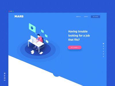 MARS - Landing Page by Minh Pham #Design Popular #Dribbble #shots