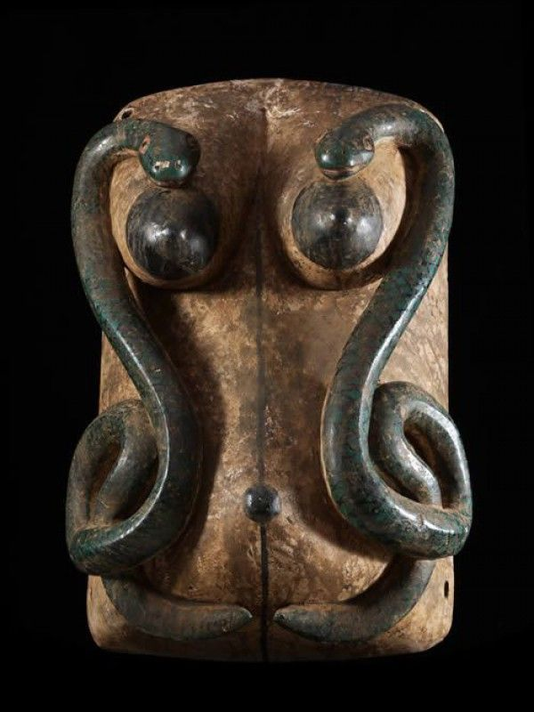 Africa   Belly Mask from the Yoruba people of Benin.   Wood and pigment   ca. 1960s/70s