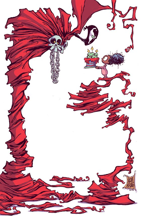 Spawn #250 Variant - Skottie Young