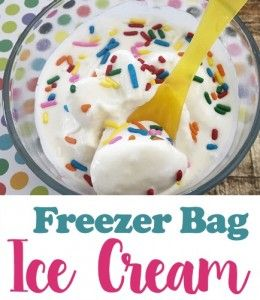 Do you love homemade ice cream? If you have not made it in a freezer bag you are missing out. Homemade freezer bag ice cream is a delicious and easy to make sweet treat that you can whip up in minutes. Plus it is a fun recipe to make with kids. Simply grab a handful of ingredients (half and half, sugar, vanilla extract, coarse sea salt, ice, and a gallon and quart sized freezer bags) and you've got everything you need to make yummy soft serve ice cream.