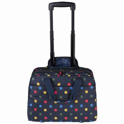 2016 Women Travel Bags Suitcase with Wheels Canvas Brand Dot Trolley Luggage Shopping Travel Rolling Suitcase Women's Handbag