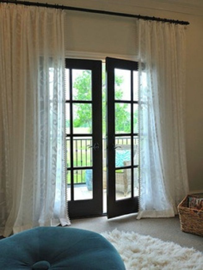 Patio Door Curtains Black Color Door