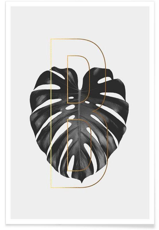 Plants B als Premium Poster von typealive | JUNIQE