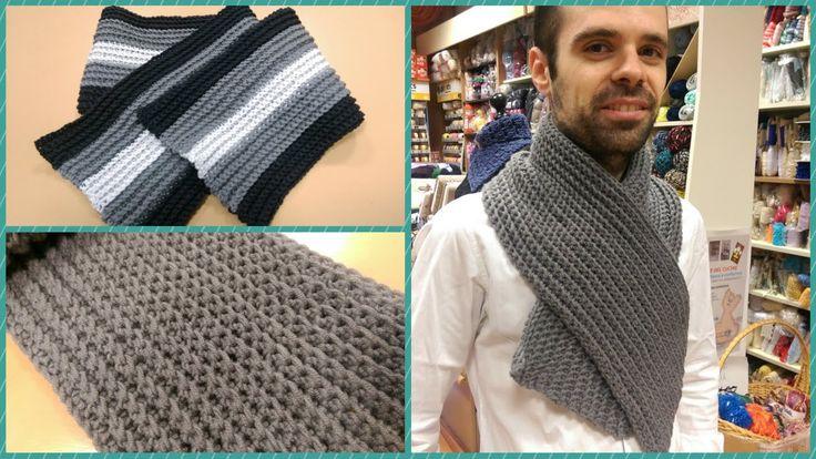 Sciarpa classica all'uncinetto Tutorial sciarpa da uomo -How to crochet ...
