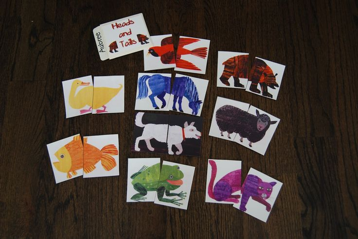 busy bags for 2 year olds | Heads and tails matching game. My two-year-old daughter LOVED this!