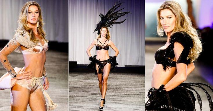 """Gisele desfilando sua coleção de lingerie """"Brazilian Intimates"""". Show!"""