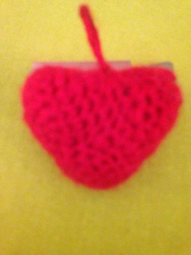 Llavero corazón 3D crochet