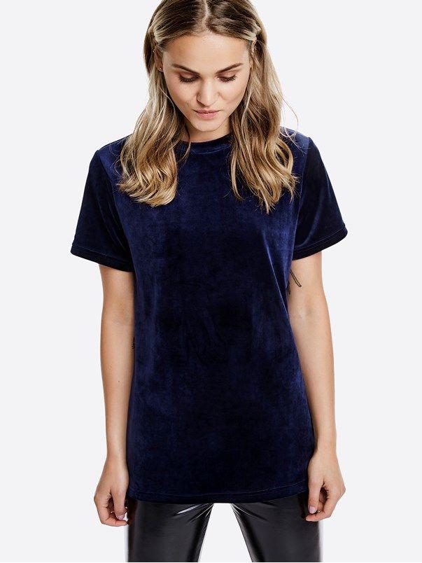 Thea t-skjorte     Blå   BikBok   Norge