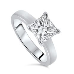 2.01cts Princess Cut Certified Diamond Solitaire Ring