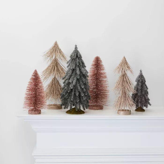Decorating For The Holidays Pink And Gold Christmas Green Wedding Shoes Boho Christmas Decor Bottle Brush Christmas Trees Minimalist Christmas Decor