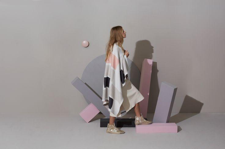 EXHALE Winter 16. Shop here: https://kateandkate.com.au/shop/blankets/the-ella-classic-peach-cloud-grey-white/ // #exhalebykateandkate #interior #inspo #design #pastel #minimalist #baby #bedroom #decor #home #house #blanket #throw #design #fabric #photoshoot