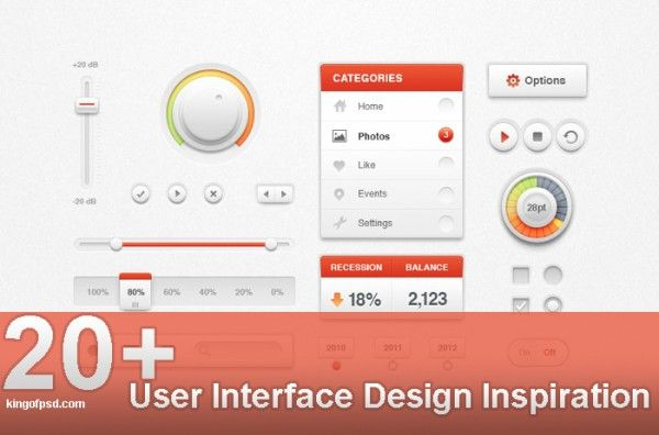 20+ User Interface Design Inspiration – UI Design Examples From dribbble