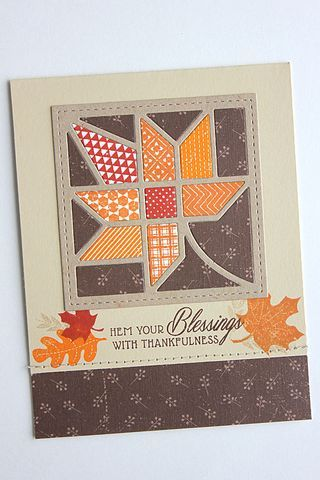 Hem Your Blessings Card by Heather Nichols for Papertrey Ink (August 2015)