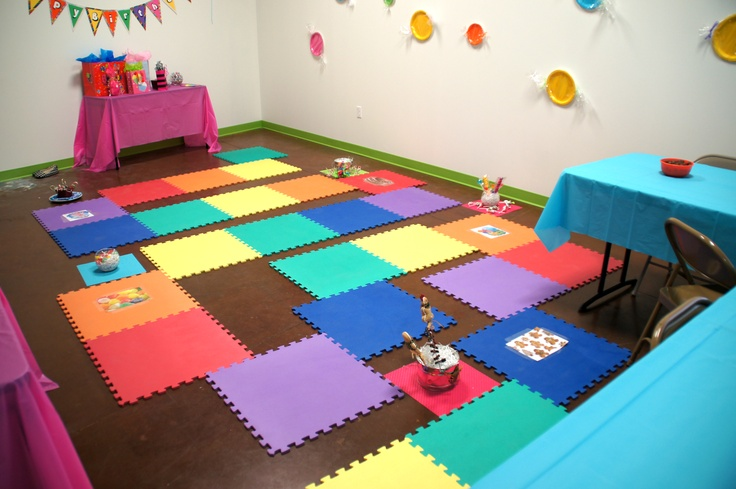 Candy Land Party at Confetti Monkey.  Life-size game board.