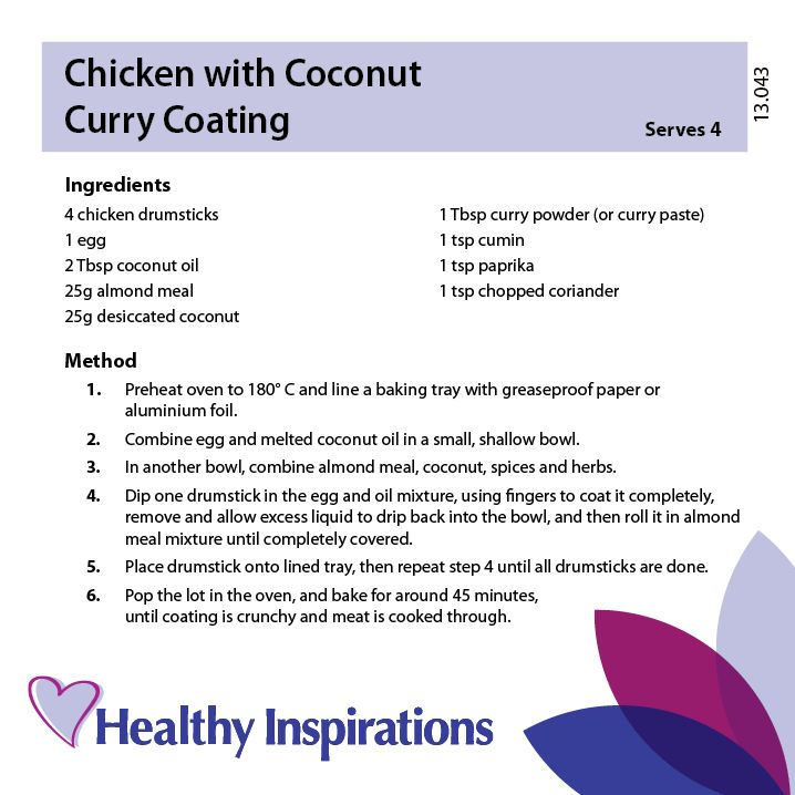 Chicken with coconut curry coating #healthyinspirations #healthyrecipes