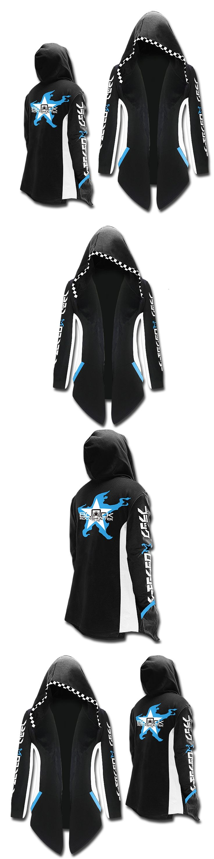 Mens Fashion Winter Autumn BLACK ROCK SHOOTER Hoody Black Color BRS BLACK ROCK SHOOTER Pullover Hoodies For Adult CM341
