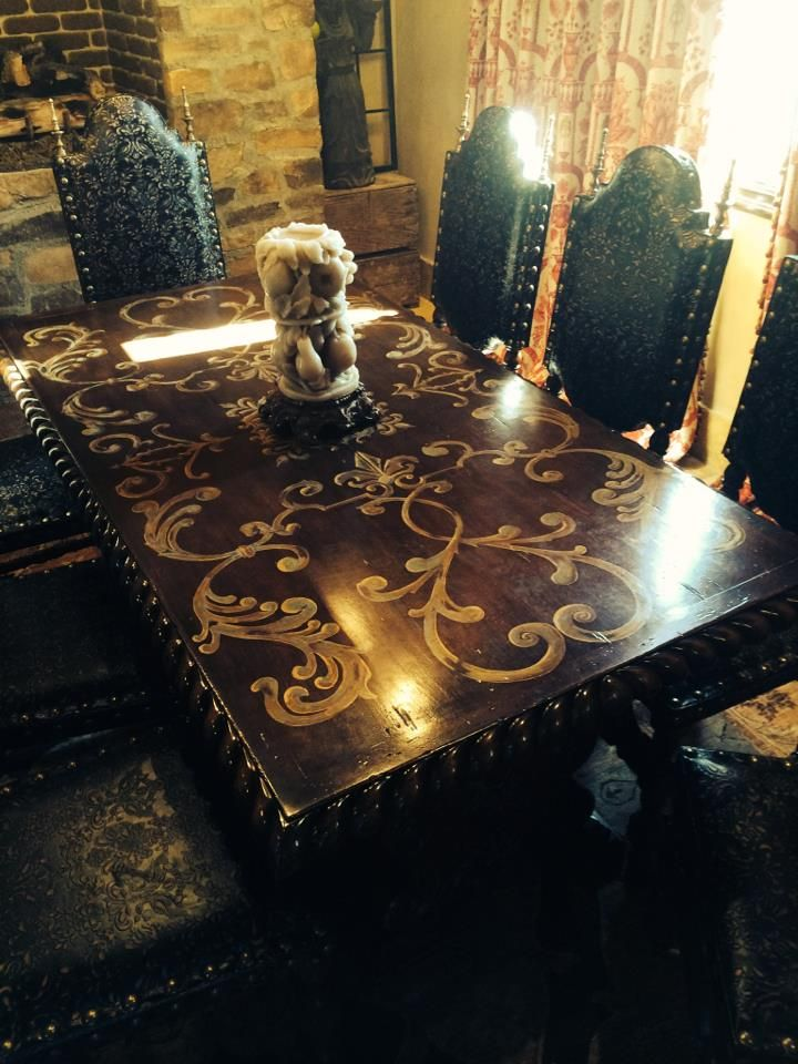 My dream dinning room set custom dining table by Rebecca Justice