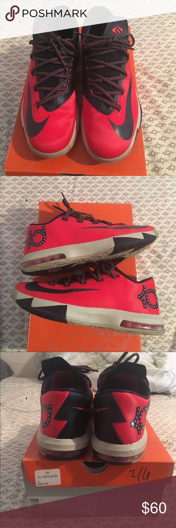 Nike KD VI Light Crimson/Crimson-Lt Bg Chlk-Ltl Used in great condition. Size 9.5 Nike KD VI Light Crimson/Crimson-Lt Bg Chlk-Ltl Nike Shoes Sneakers
