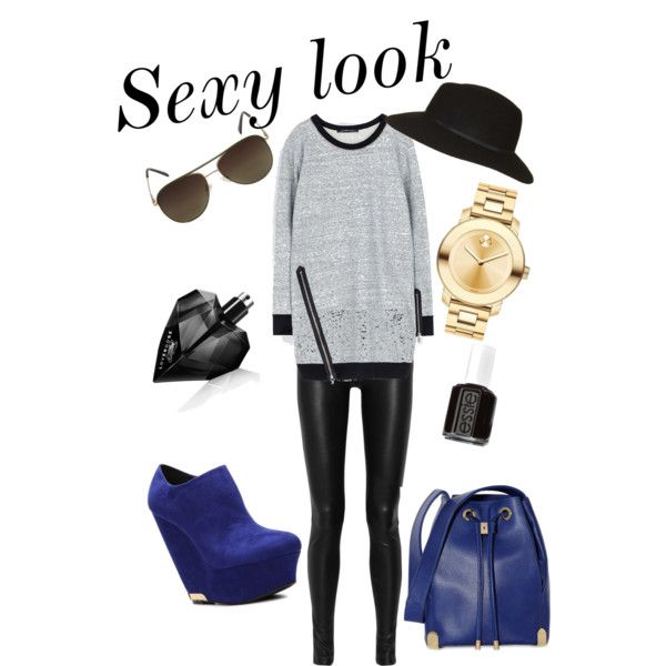 Sexy look: Zara&Helmut Lang&Qupid Vela Wedge Bootie&Vince Camuto &Movado Bold&TOPSHOP&