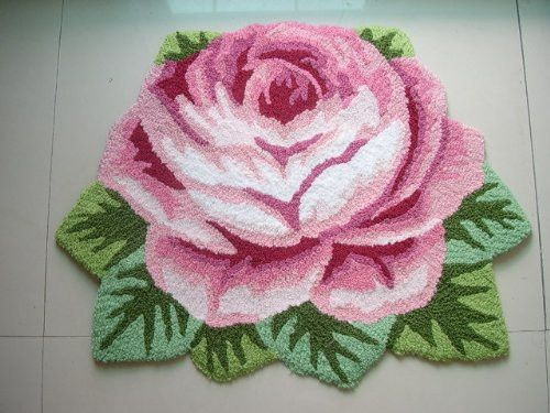 1 Rose Carpet Floor Mat Handmade Rug Anti-slip Modern Kitchen Area Rugs