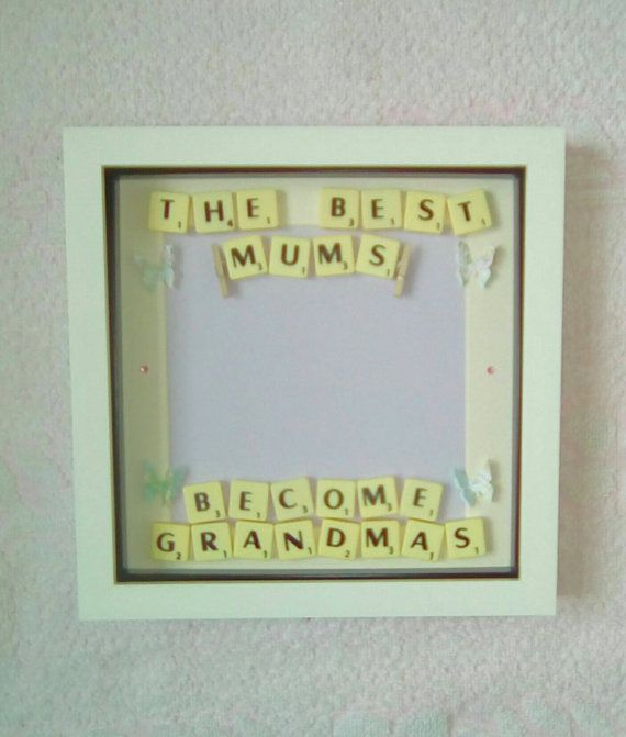 Check out this item in my Etsy shop https://www.etsy.com/uk/listing/472635284/mum-photo-framebaby-scan-framescrabble
