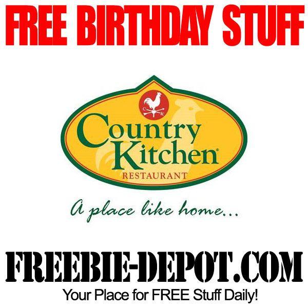 ►► BIRTHDAY FREEBIE - Country Kitchen Restaurant - FREE BDay Meal ►► #BDay, #BirthdayFreebie, #FreeBirthdayStuff, #HappyBirthday ►► Freebie-Depot