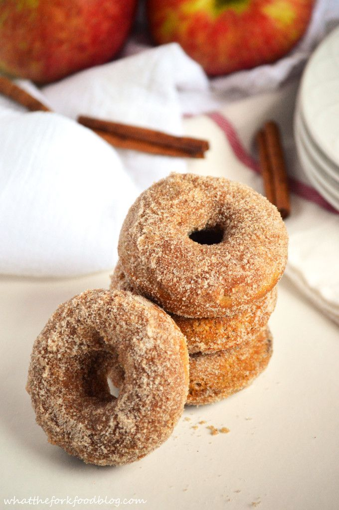 Apple Cider Donuts from What The Fork Food Blog - They're gluten-free AND unbelievably good!