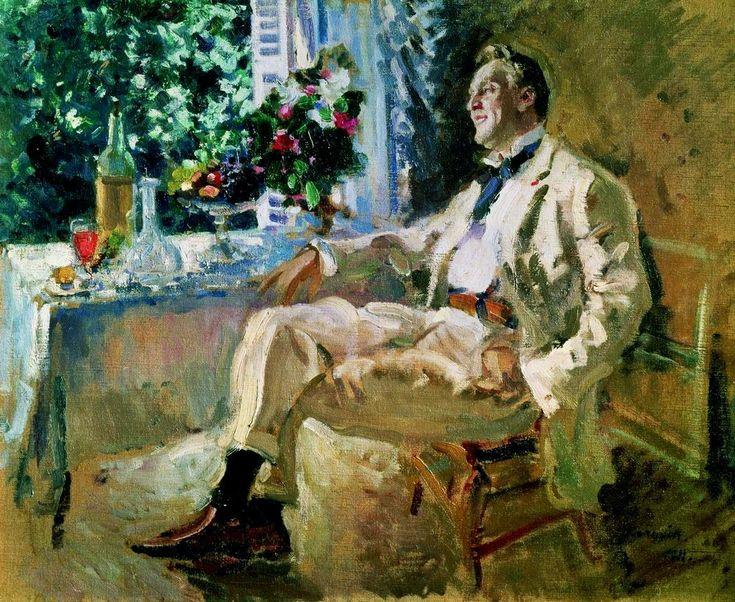 Константин Коровин «Портрет Ф.И.Шаляпина». Описание картины