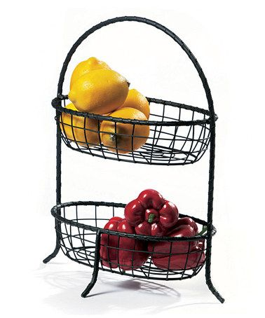 Take a look at this Black Serpentine Two-Tier Oval Basket by AQ on #zulily today!