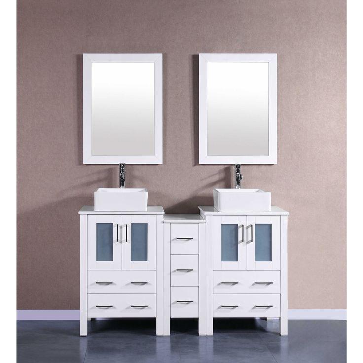Die besten 25+ 60 inch vanity Ideen auf Pinterest Haupt-Bad - badezimmer outlet