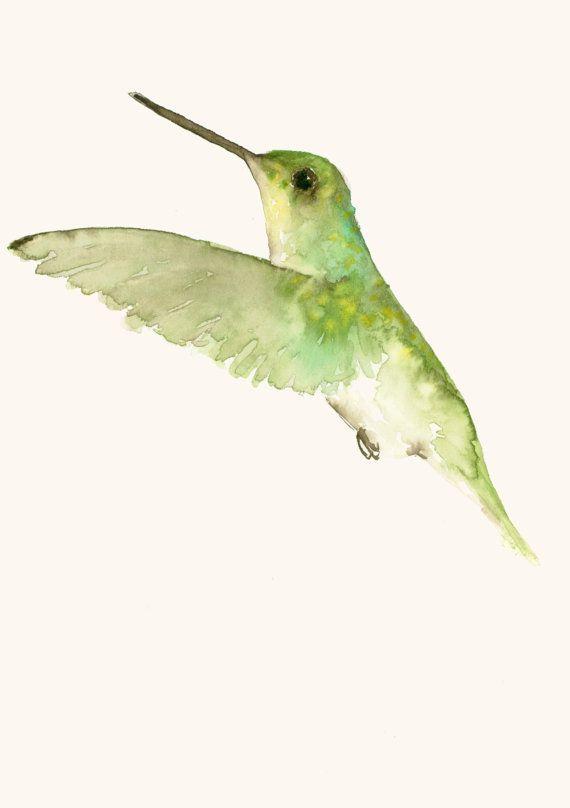Humming Bird Art Original Watercolor Painting