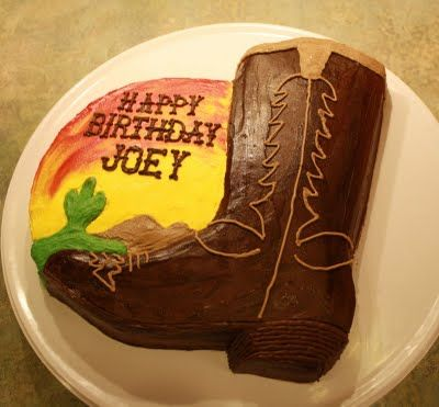 Party Cakes: Cowboy Boot Cake for Joey