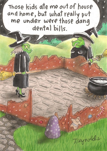 Dentist Marketing ploys: Halloween Cartoon