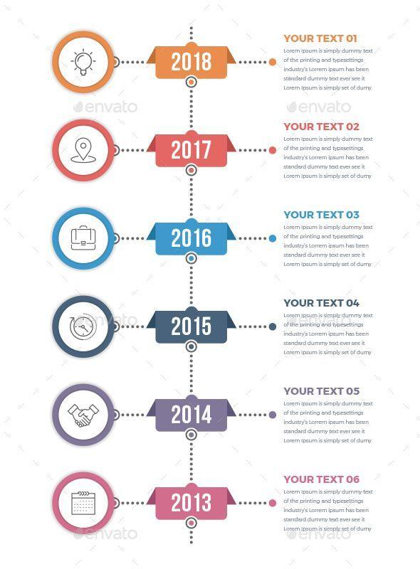 Vertical Timeline Infographics With Images Timeline Design