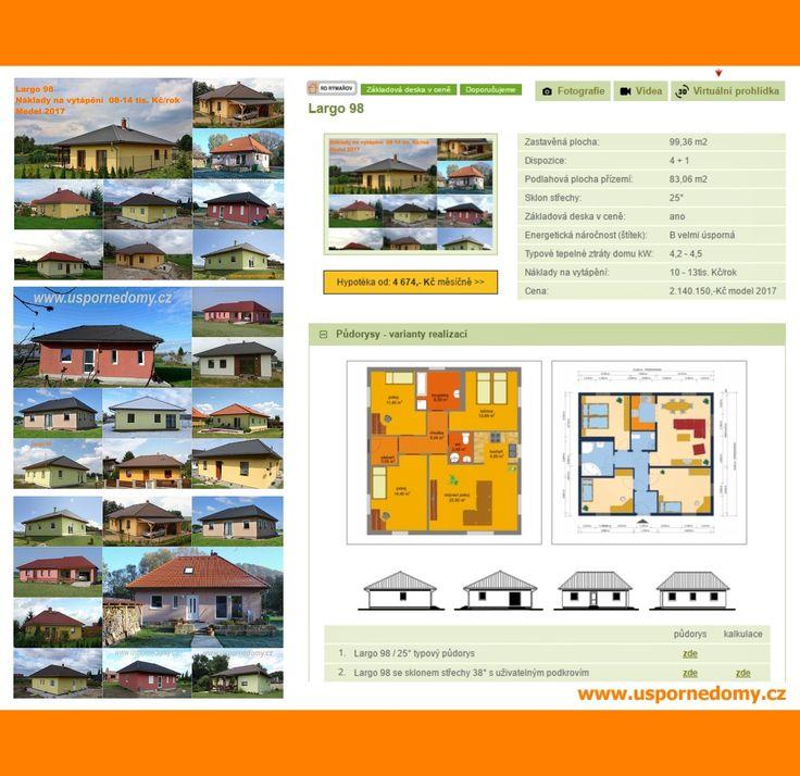 Přízemní dům bungalov 4+kk za 4.674,- Kč měsíčně (model 2017)