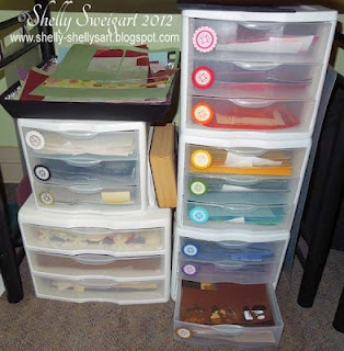How to organize scrapbook paper & scraps