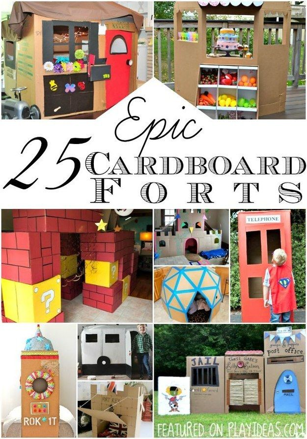 Epic cardboard forts. | These Are The Top Parenting Searches On Pinterest In 2016 (So Far)