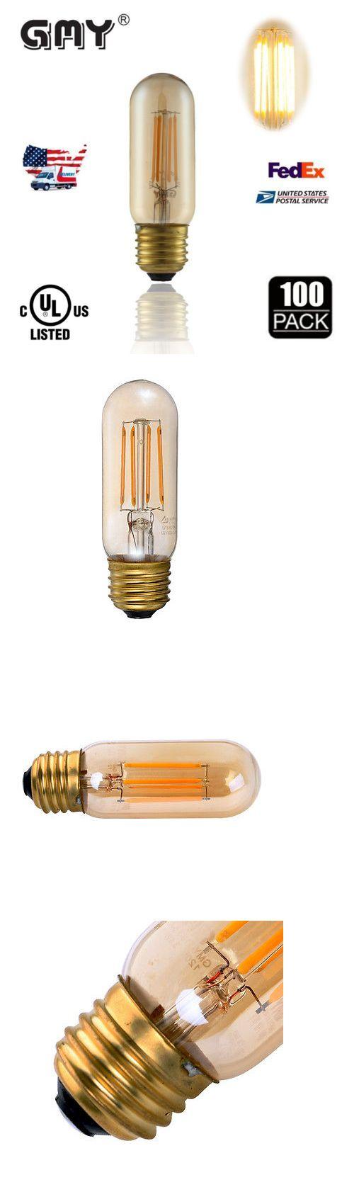Teardrop st64 william and watson vintage edison bulb industrial light - Light Bulbs 20706 100 X Dimmable T10 3 5w E26 Tube Warm Led Filament Edison