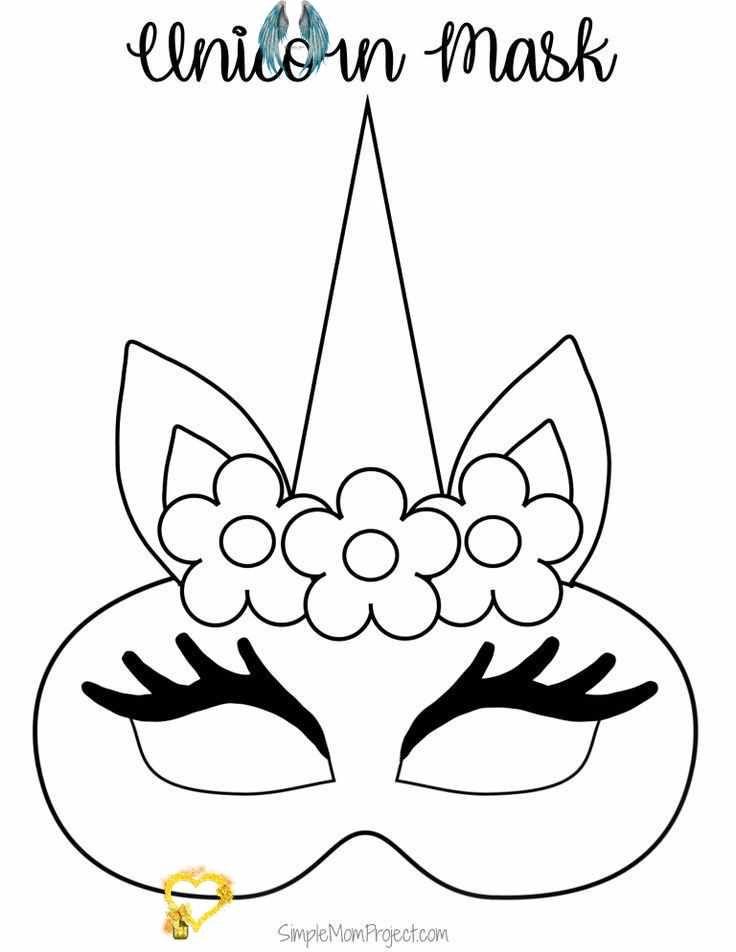 Unicorn Face Masks With Free Printable Templates Simple Mom Project Click On This Post For Diy Free Pr In 2020 Malvorlage Hase Einhorn Basteln Malvorlagen Fur Kinder