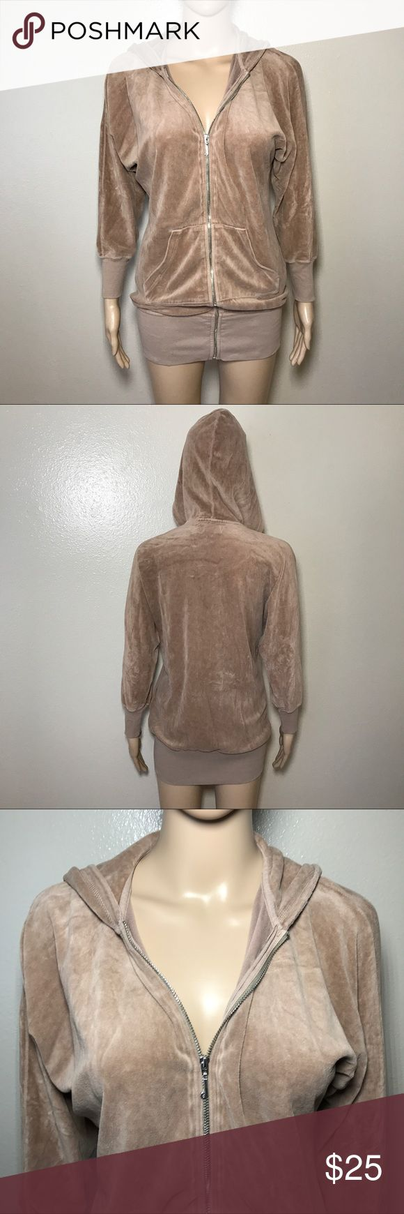 Petites Juicy Couture Zip up Hoodie Sz Xs Brown Preowned Sz petite Xs zip up Juicy Couture Jackets & Coats