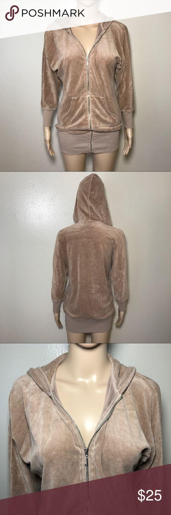 Petites Juicy Couture Zip up Hoodie Sz Xs Brown Preowned Sz petite Xs zip up Juicy Couture Jackets & Coats