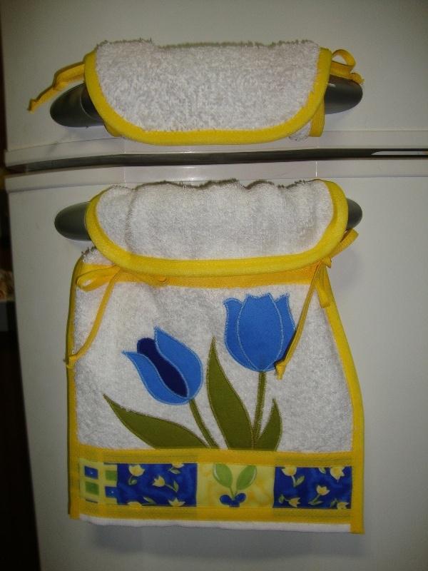 Toalha/puxador de geladeira  www.elo7.com.br/cacarecos