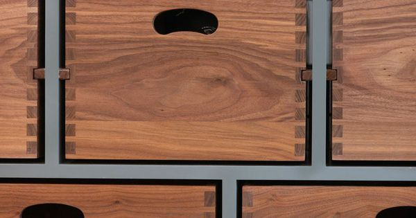 DESIGN DETAIL // A Kitchen Island With Removable Dovetail Boxes via Jose Maria Lozano Castellano - curated by Robb and Co