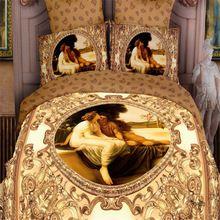 2016 mais novo 4 Pcs dos desenhos animados 3D conjuntos de cama King Size conjunto de cama colcha edredon travesseiro cobre folha consolador(China (Mainland))