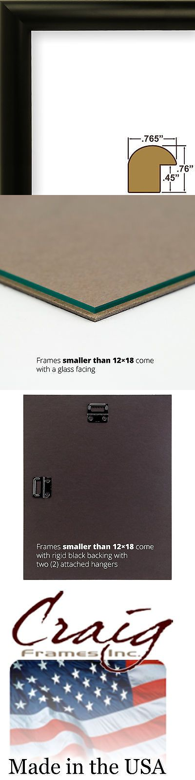 Frames 79654: Craig Frames Bullnose, Contemporary Black Picture Frame -> BUY IT NOW ONLY: $80 on eBay!