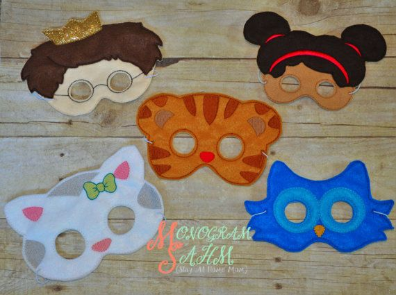 Daniel Tiger Mask Set by MonogramSAHM on Etsy