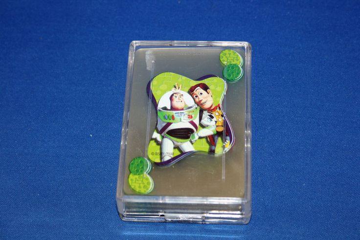 Disney Pixar Buzz Lightyear & Woody Clear Plastic Playing Cards Deck Toy Story #Disney