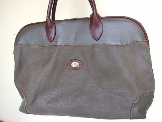 Vintage italian travel olive green color bag by Giacomo #Travelbag #Italianbag #Ollivegreenbag #Backpack #Madeinitaly #Bag
