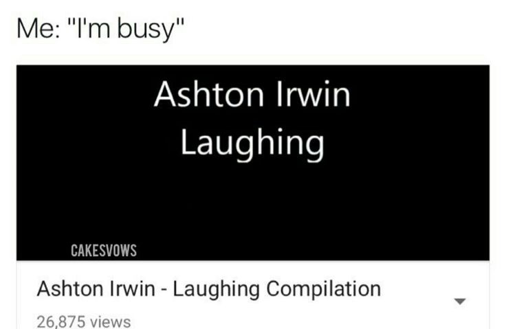 If this isnt me Ashton Irwin 5sos