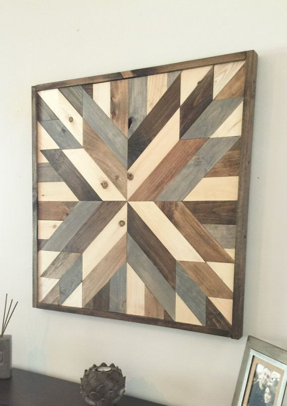 Sale Reclaimed Wood Wall Art Modern Wall Decor Wooden